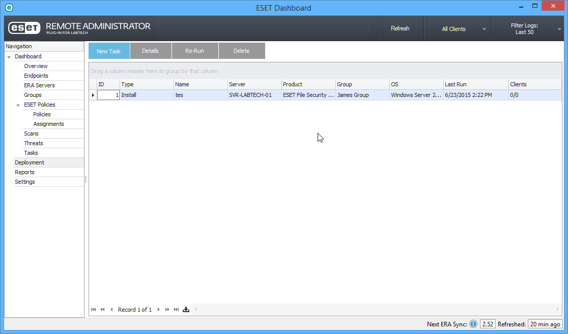 ESET Remote Administrator Plugin for LabTech V2